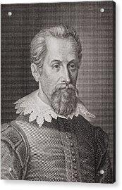1620 Johannes Kepler Astronomer Portrait Acrylic Print by Paul D Stewart