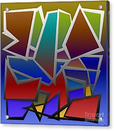 1624 Abstract Thought Acrylic Print