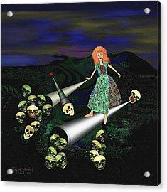 165 -   Lindas Nightwalk Acrylic Print by Irmgard Schoendorf Welch