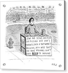 New Yorker October 25th, 2004 Acrylic Print by Roz Chast