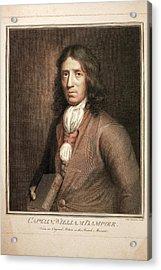 1689 William Dampier Pirate Of Genius Acrylic Print