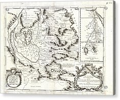 1690 Coronelli Map Of Ethiopia Abyssinia And The Source Of The Blue Nile Acrylic Print by Paul Fearn
