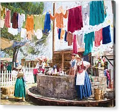 16th Century Washday Acrylic Print