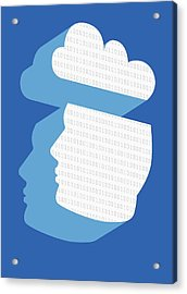 Cloud Computing, Conceptual Artwork Acrylic Print by Victor Habbick Visions