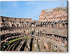 Colosseum In Rome Acrylic Print by George Atsametakis