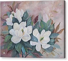Flowers Of The South Acrylic Print by Frances Lewis
