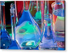 Laboratory Glassware Acrylic Print by Charlotte Raymond