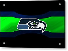 Seattle Seahawks Acrylic Print by Joe Hamilton
