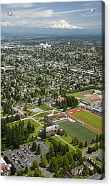 University Of Puget Sound U.p.s., Tacoma Acrylic Print by Andrew Buchanan/SLP