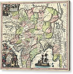 1700 Map Of India Acrylic Print