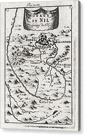 1719 Mallet Map Of The Source Of The Nile Ethiopia Acrylic Print by Paul Fearn