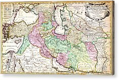 1730 Ottens Map Of Persia Iran Iraq Turkey Geographicus Regnumpersicum Ottens 1730 Acrylic Print by MotionAge Designs