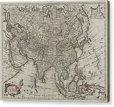1745 Asia Map Acrylic Print by Dan Sproul
