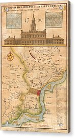 1752  Scull  Heap Map Of Philadelphia And Environs Acrylic Print
