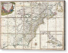 1779 Phelippeaux Case Map Of The United States During The Revolutionary War Acrylic Print