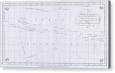 1780 Cook  Hogg Map Of Tahiti  Acrylic Print
