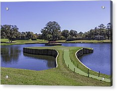 17th Hole Or Island Green At Tpc Sawgrass Acrylic Print by Karen Stephenson