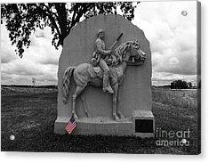17th Pennsylvania Cavalry Monument Gettysburg Acrylic Print by James Brunker