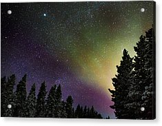 Aurora Borealis Or Northern Lights Acrylic Print by Panoramic Images