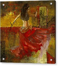 Abstract Belly Dancer 6 Acrylic Print by Corporate Art Task Force