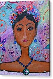 Frida Kahlo Acrylic Print by Pristine Cartera Turkus
