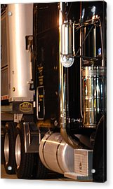 Acrylic Print featuring the photograph 18 Wheeler 02 by Ramona Whiteaker
