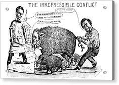 1800s 1850s 1858 Cartoon Irrepressible Acrylic Print