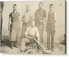1800's Vintage Photo Of Blacksmiths Acrylic Print by Charles Beeler
