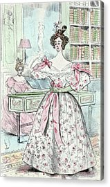 1835, Womens Fashion In Nineteenth-century Paris Acrylic Print