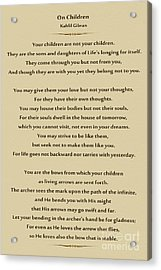184- Kahlil Gibran - On Children Acrylic Print