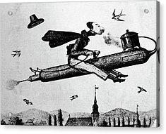 1840s 1800s Illustration Cartoon Of Man Acrylic Print
