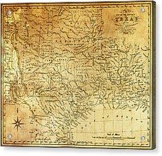 1841 Republic Of Texas Map Acrylic Print by Daniel Hagerman
