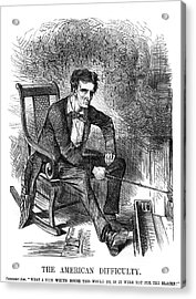 1860s 1861 Punch Cartoon Abraham Acrylic Print