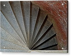 1861 Fort Point Tower Stairs San Francisco Bay Acrylic Print by Bill Owen