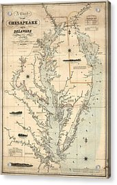 1862 Chesapeake Bay Map Acrylic Print