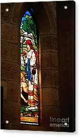 1865 - St. Jude's Church  - Stained Glass Window Acrylic Print by Kaye Menner