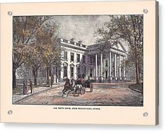 1870's White House Acrylic Print by Charles Somerville