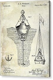 1878 Buoy Patent Drawing Acrylic Print