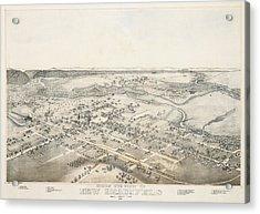 1881 New Braunfels Texas Map Acrylic Print