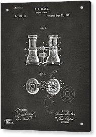 1882 Opera Glass Patent Artwork - Gray Acrylic Print