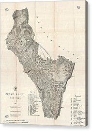 1883 West Point Map Acrylic Print by Dan Sproul