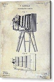 1885 Camera Patent Drawing  Acrylic Print