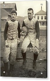 1885 Football Players Acrylic Print by Underwood Archives