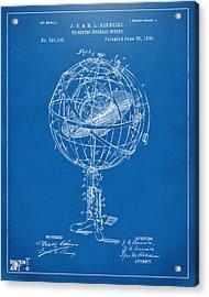1885 Terrestro Sidereal Sphere Patent Artwork - Blueprint Acrylic Print by Nikki Marie Smith