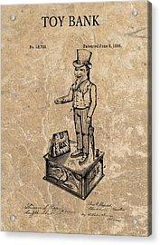 1886 Toy Bank Patent Acrylic Print