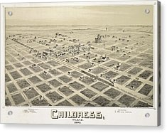 1890 Childress Texas Map Acrylic Print