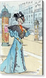 1892, Womens Fashion In Nineteenth-century Paris Acrylic Print