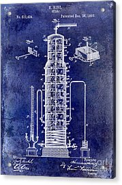 1893 Still Patent Drawing Blue Acrylic Print by Jon Neidert