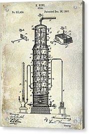 1893 Still Patent Drawing Acrylic Print by Jon Neidert