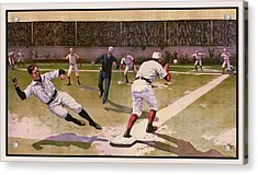 1898 Baseball -  American Pastime  Acrylic Print by Daniel Hagerman